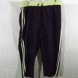 Womens JMS Workout capris - Black/green - 22/24W